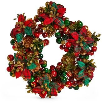 Salzburg Creations Tartan Cheer Candle Ring Wreath