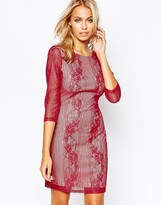 Boohoo Boutique Lace Longsleeve Body-Conscious Dress