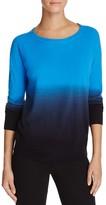 Aqua Raglan Dip Dye Sweater