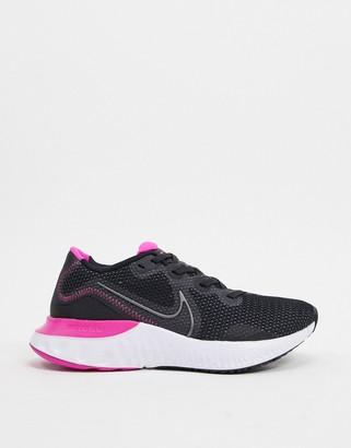 Nike Running Renew Run trainers in black