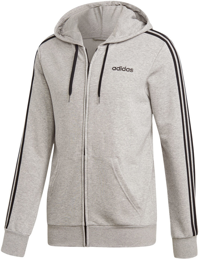 83f927f3 adidas Mens Essentials 3-Stripes Full Zip French Terry Hoodie