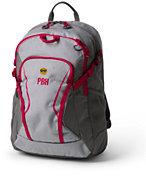Lands' End Digital ClassMate Medium Backpack - Solid-Limelight Stripe Print