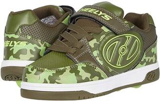 Heelys Plus X2 (Little Kid/Big Kid) (Dark Green/Camo) Boy's Shoes