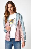 La Hearts Colorblock Full Zip Windbreaker Jacket