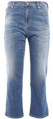 Love Moschino Embroidered Mid-rise Kick-flare Jeans