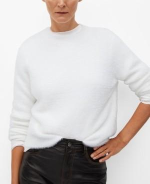 MANGO Women's Fluffy Sweater