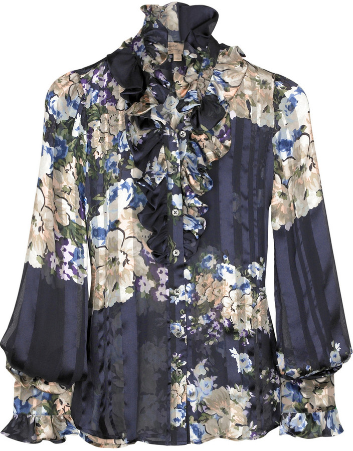 Elizabeth and James Ruffle flower blouse