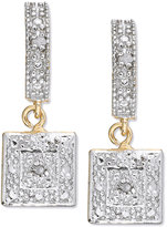 Victoria Townsend 18k Gold over Sterling Silver Earrings, Diamond Accent Square Drop Earrings