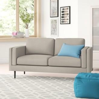 "Zipcode DesignTM Verlene 72.83"" Square Arm Sofa Zipcode Design Upholstery Color: Cream"