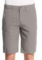 Saks Fifth Avenue Plaid Seersucker Shorts