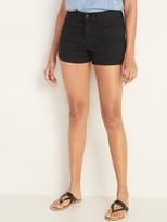 Old Navy Mid-Rise Cuffed Black Jean Shorts for Women -- 3-inch inseam