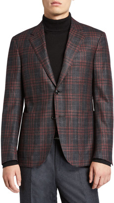 Ermenegildo Zegna Men's Plaid Wool-Blend Regular-Fit Sport Jacket