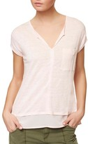 Sanctuary Petite Women's City Mix Layered Look Tee