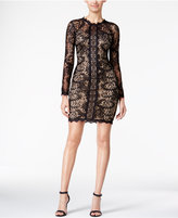 Sequin Hearts Juniors' Embellished Lace Bodycon Dress