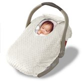 Jolly Jumper Car Seat Cover - Cover For Your Baby In Their Car Seat - Cream