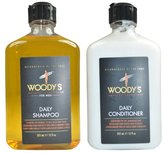 Woody's Quality Grooming for Men, Daily Shampoo & Conditioner (12 Ounce)
