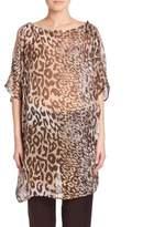 Natori Shadow Leopard Silk Tunic