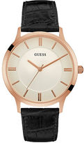 GUESS Escrow Embossed Leather Watch