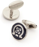 Salvatore Ferragamo Enamel Gancio with Flower Cufflinks
