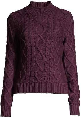 Elie Tahari Audrey Cable-Knit Merino Wool Sweater