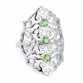 Neola Jade Sterling Silver Cocktail Ring Green Peridot