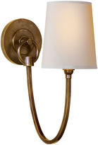 Visual Comfort & Co. Reed Single Sconce, Antiqued Brass