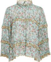 Etoile Isabel Marant Moxley Floral-Print Cotton Blouse