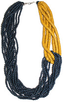 Sylca Designs Beaded Necklace Blue Yellow