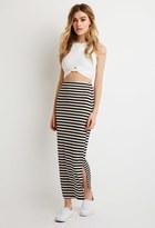 Forever 21 FOREVER 21+ Stripe Maxi Skirt