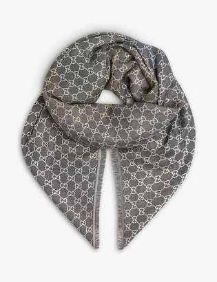 Gucci GG print scarf