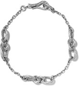 Bottega Veneta Oxidized Silver Bracelet - M