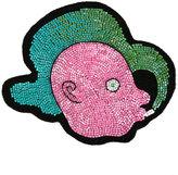 Olympia Le-Tan figurehead beaded bag patch - women - glass/Wool Felt - One Size