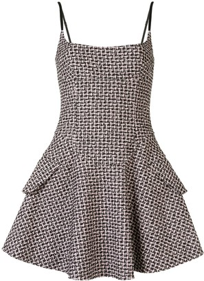 Alexander Wang Tweed Flared Mini Dress