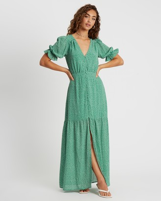 Savel - Women's Green Maxi dresses - Soraya Maxi Dress - Size 6 at The Iconic