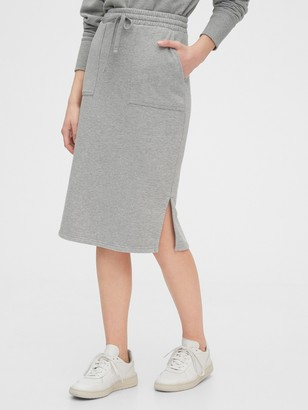 Gap Fitted Midi Skirt in French Terry
