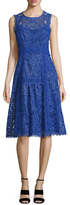 Nanette Lepore Lovely Lace Fit And Flare Dress