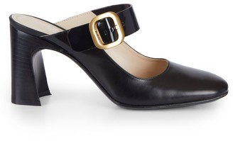 Tod's Leather Block-Heel Mules