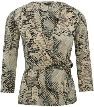 M&Co Spirit snake print wrap top