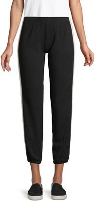Monrow Side-Stripe Cropped Sweatpants