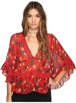Free People Bright Lights Embroidered Top Women's Clothing