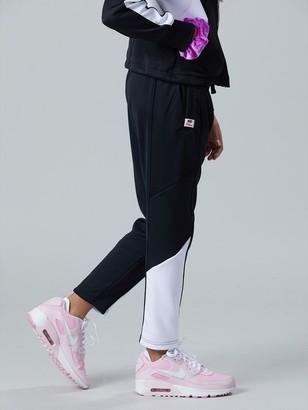 Nike Sportswear Older Girls Heritage Track Pants - Black/White
