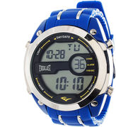 Everlast Mens Blue Silicone Strap Watch