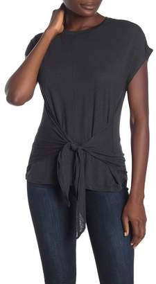 Bobeau Tie Waist Short Sleeve T-Shirt