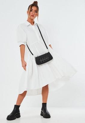 Missguided White Extreme Oversized Smock Shirt Midaxi Dress