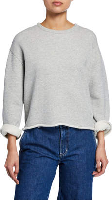 Vince Crewneck Long-Sleeve Cotton Sweatshirt