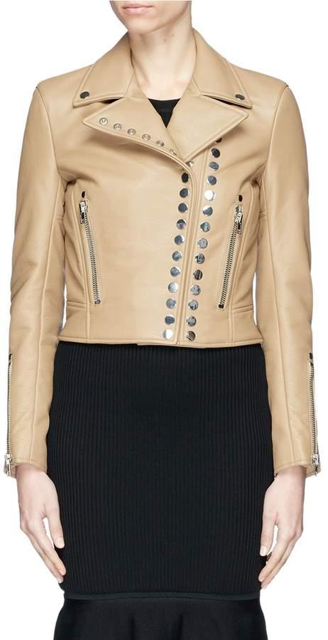 Alexander Wang Snap button leather biker jacket