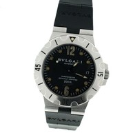 Bulgari Diagono SD38 S Stainless Steel & Rubber 38mm Watch