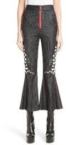 Women's Dilara Findikoglu Embellished Pinstripe Crop Flare Pants