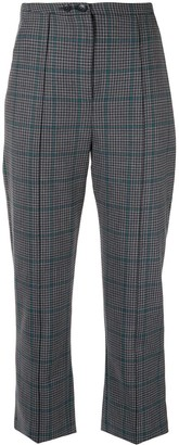 Jonathan Simkhai Glen high-rise plaid trousers