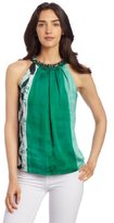 Jones New York Women's Embellished Neck Halter Blouse